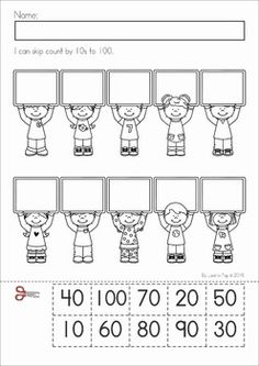 best counting by  images in   kindergarten kindergarten  counting by   th day of school no prep packet for kindergarten a  page from the unit