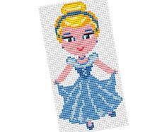 Cinderella pattern by POWSTITCH Cinderella Crafts, Animation, Betty Boop, Hand Embroidery, Cross Stitch Patterns, Art Gallery, Sewing, Creative, Cute