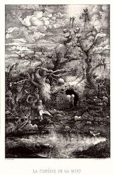 Rodolphe Bresdin, la comédie de la mort, 1885