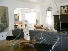Bertoia Style Wire Diamond Chair Set Of 4