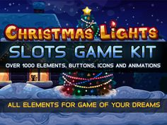 Christmas lights slots game kit by Saranai Store on Creative Market