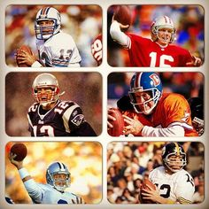 """In advance of this month's release of SI's """"Football's Greatest"""" book, we are asking YOU to vote on the greatest players in #NFL history. Who is the best #QB of all time? (Photos by Walter Iooss Jr, John Biever,  Andy Hayt, Al Tielemans/SI)  #SIFBGreatest"""