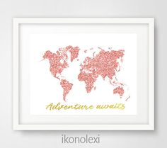 Excited to share the latest addition to my #etsy shop: Rose Gold Map, World Map Print, Rose Gold Office, Rose Gold Decor, Modern Office Prints, Rose Gold Wall Art, Rose Gold Art, Adventure Awaits http://etsy.me/2CjmPqH #art #print #digital #birthday #white #rosegold