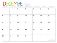 Shining Mom: 2014 Printable Calendars {Fresh Designs!}