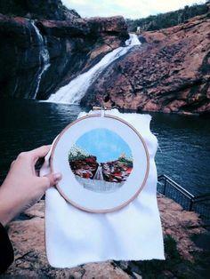 TERESA LIM – SEW WANDERLUST #teresalim #sewwanderlust #art #embroidery #landscape