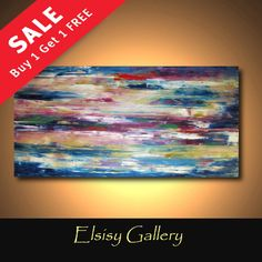 Abstract painting original palette knife by Elsisygallery on Etsy, $169.00