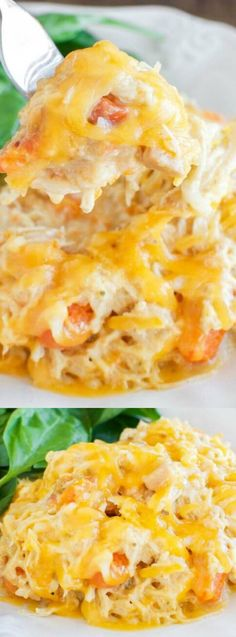 This Easy Cheesy Crock Pot Chicken recipe from Back for Seconds is a no fuss dinner that your family will really love! It's filled with hearty, creamy, cheesy ingredients that even the most picky of eaters will eat right up!