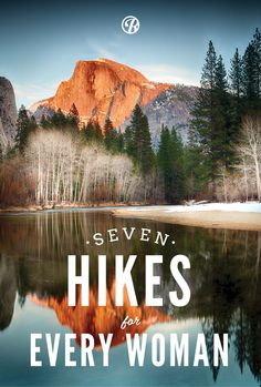 7 amazing US hikes for every woman! Including peaks in Yosemite, Shenandoah, and Rocky Mountain national parks. #OutdoorDestination