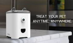 PetBot: PetCam, Treating, Smart Pet Monitoring Device ~ Clever technology allowing you to closely monitor and interact with your dog when you are away from home Dog Stairs, Pet Camera, Pet Dogs, Pets, Gps Tracking, Cool Technology, Dog Accessories, Dog Mom, Your Pet
