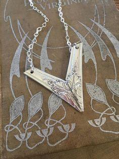Items similar to Spoon Necklace - CHEVRON AVALON - Spoon Jewelry - Spoon Handles (03895-LV) on Etsy