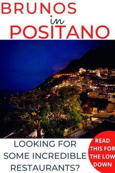 If you're scouting for the best restaurants in Positano, you will probably have heard of Bruno's. Here I will tell you more about this... POSITANO RESTAURANTS / POSITANO RESTAURANTS WITH A VIEW / POSITANO ROMANTIC RESTAURANTS / BEST POSITANO RESTAURANTS / BRUNOS POSITANO / BEST THINGS TO DO IN POSITANO / WHERE TO EAT POSITANO #positano #positanobestrestaurants #positanorestaurantswithaview via @daweswideopen favourite cities of the world