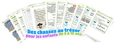 Printable treasure hunts, virtually free, for our year old kids birthdays and other parties Word Games, 12 Year Old, Periodic Table, Birthdays, Printables, Learning, Party, Fun, Birthday Parties
