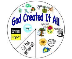 Printable Creation Spinwheel Craft