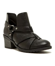 Another great find on #zulily! Black Pompeo Ankle Boot by Qupid #zulilyfinds