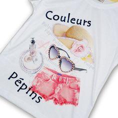 C&o Kids Kız Çocuk Taş İşlemeli Tişört - n11.com Tween Fashion, Little Girl Fashion, Kids Outfits, Cool Outfits, T Shirt Painting, Girl Trends, Kids Shorts, Summer Girls, Kids Wear