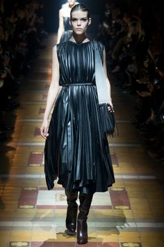 Leather pleats | Lanvin AW14