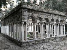 Cortile di Cristoforo Colombo, Genova, Italia