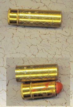 Vintage Lipstick Case Holder 1950s Gold Bright by TheMaineCoonCat, $4.95