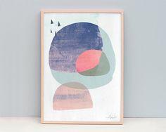 Abstract Print- Abstract Modern- Dark Circles 2 - Digital Art