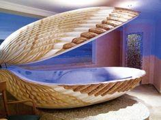 clam bath tub- cool! #bath