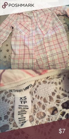Button down top by Bethany Mota Beto Bethany Mota  Tops Button Down Shirts