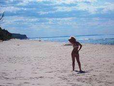 Empty nudist beach