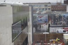 The view from the Mellor building towards the new Beacon Building and Cadman Building