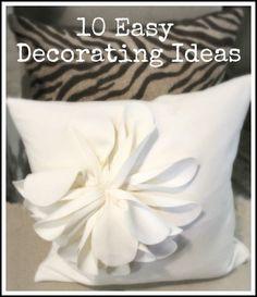 10 Easy Decorating Ideas
