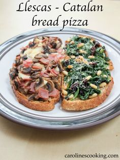 Llescas - Catalan bread pizza is such a great recipe to get dinner on the table in no time at all #Weekdaysupper