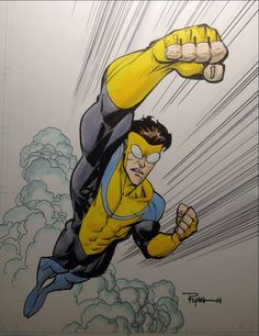 Invincible by Ryan Ottley Superhero Names, Best Superhero, Superhero Design, Comic Books Art, Comic Art, Book Art, Invincible Comic, New Avengers, Image Comics