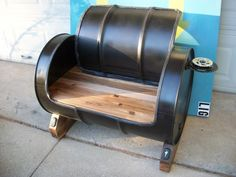 oil drum recycled into seating...for real y'all!