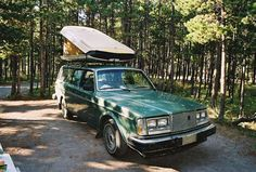 Roof Top Car Camper   -  my dad did this to our car. Was warmer than a tent, and safer. The bear didn't get in.