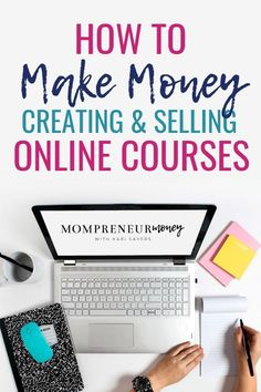 Learn how to make money creating and selling online courses. Here are the tools to get started! #passiveincome #passiveincomeideas #income #makemoneyfromhome