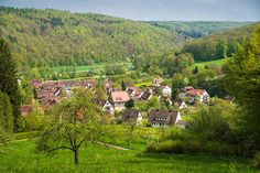 Lovely old german village Bebenhausen in the middle of Nature Park Schoenbuch (Naturpark Schönbuch), Baden-Württemberg, Germany. All prints are professionally printed, packaged, and shipped within 3 - 4 business days. Choose from multiple sizes and hundreds of frame and mat options.  Available as poster, framed fine art print, metal, acrylic or canvas print. (c) Matthias Hauser hauserfoto.com - Art for your Home Decor and Interior Design needs.