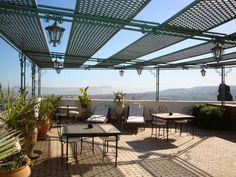 Roof patio, Fes, Morocco. http://www.onsafari.com/Riad-Fes-accommodation-300.htm