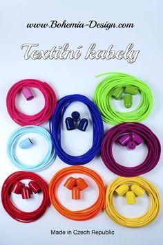 Textilní kabely opletené