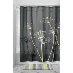 InterDesign Thistle Shower Curtain 72 x 72 Inch Gray Yellow Decor Bathroom New Colorful Curtains, Shower Curtain, Grey Curtains, College Dorm Bathroom, Grey Yellow, Interdesign, Curtains, Yellow Shower Curtains, Yellow Bathrooms