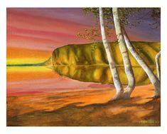 Mazinaw Sunset Oil Painting On Canvas, Ontario, Adventure, Sunset, Art, Art Background, Kunst, Sunsets, Adventure Movies