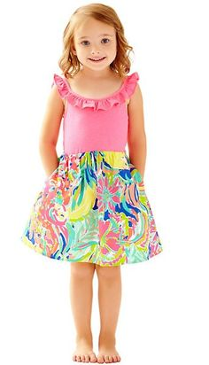 Lilly Pulitzer Girls Claire Combo Dress -Multi Casa Banana