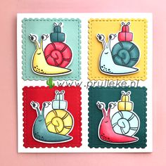 Andy Warhol, Stampin Up, Van, Projects, Cards, Snails, Log Projects, Blue Prints, Stamping Up