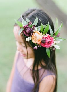A Colorful Rustic Vintage Wedding - Chic Vintage Brides Floral Crown Wedding, Chic Wedding, Wedding Flowers, Wedding Attire, Wedding Hair, Dream Wedding, Tropical Wedding Centerpieces, Tropical Wedding Bouquets, Flower Crown Headband