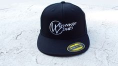 "Vintage Vdub ""Logo"" 210 Fitted (Black)"