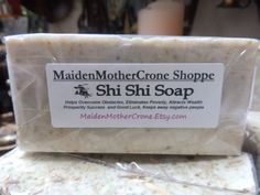 Shi Shi Soap Overcomes Obstacles Eliminates by MaidenMotherCrone, $6.25