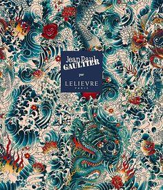 Lelièvre et Jean-Paul Gaultier s'associent une gamme de tissus d'ameublement - a colorful fabric collection