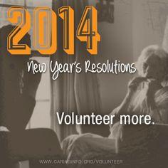 This year - volunteer more!