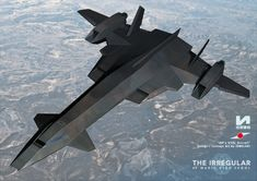 """JDF's VTOL aircraft"" from ""The Irregular at Magic High School"" Concept Art / Design by IZMOJUKI"