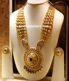 Gold Long Chain latest jewelry designs - Page 9 of 45 - Indian Jewellery Designs Gold Jewellery Design, Gold Jewelry, Gold Necklace, Antique Jewelry, Garnet Necklace, Gold Choker, Simple Necklace, Necklace Set, Accessories