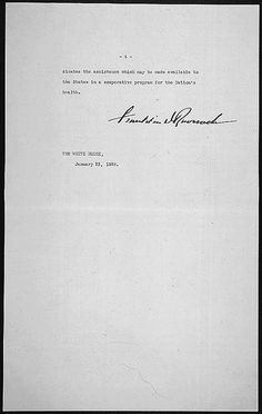 Franklin D. Roosevel Message of President Franklin D. Roosevelt concerning national health, 01/23/1939 (page 4 of 4) by The U.S. National Archives, via Flickr