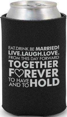 Funny Wedding Can Coolers funny wedding koozies Happily Ever