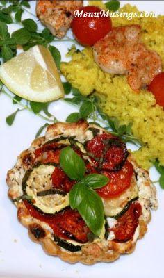 Tomato Zucchini and Ricotta Tarts - super simple to prepare.  Enjoy your veggies!!  Photo tutorial included.